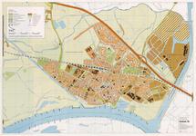 678 Een plattegrond van de gemeente Tiel, met linksboven een legenda en op de achterzijde een kaart van Wadenoijen en ...
