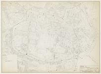 749 Een plattegrond van de binnenstad van Tiel op een kadastrale ondergrond, bedoeld om de kwaliteit van de woningen ...