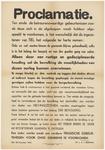 788 Een aanplakbiljet als proclamatie (afkondiging van de overheid) in de Tweede Wereldoorlog. De bevolking wordt ...