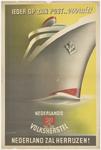 799 Een herinneringsprent van het Nederlands Volksherstel na de Tweede Wereldoorlog met de tekst: Ieder op zijn post, ...