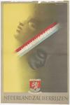 800 Een herinneringsprent van het Nederlands Volksherstel na de Tweede Wereldoorlog. De fantasieafbeelding toont ...