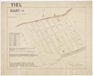 806 Een kaart op een kadastrale ondergrond sectie D, klein gedeelte. Het is een plan om de bouw van arbeiderswoningen ...