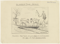 847 Zevende tekening van de 10 potloodtekeningen gemaakt tussen 1910 en 1940 over de voetbalvereniging Theole. De ...