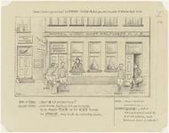 848 Eerste tekening van de 10 potloodtekeningen gemaakt tussen 1910 en 1940 over de voetbalvereniging Theole. De ...