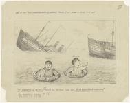 850 Derde tekening van de 10 potloodtekeningen gemaakt tussen 1910 en 1940 over de voetbalvereniging Theole. De ...