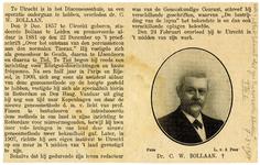 1227 Een serie knipsels uit tijdschriften met de volgende onderwerpen: een portret van de heer P.H.A. Tydeman, 1925 ; ...