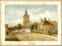 1747-12 Zicht op Marktplein met toren hervormde kerk