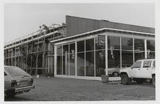 M 12076 Het Shell-pompstation aan de Veemarkt, annex garage