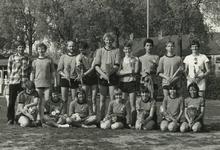 M 1646 De korfbalvereniging Tiel '72, gelegen aan de Goudenregenstraat