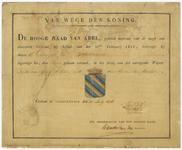 262 Diploma verleend door de Hoge Raad van Adel van het wapen van de gemeente Beusichem