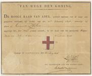 1759 Diploma verleend door de Hoge Raad van Adel van het wapen van de gemeente Zoelen