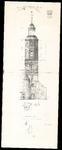 787 Opmeting toren van de Nederlands Hervormde kerk te Buren, 1959 september 15