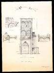 788 Opmeting van de Nederlands Hervormde kerk te Buren : details bogen, 1959 september 15