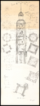 789 Doorsneden van de toren van de Lambertuskerk te Buren, 1956 september 15