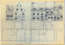 790 Plan tot restauratie van het perceel Voorstraat hoek Rodeheldenstraat te Buren : gevels en plattegrond, 1963 mei 15