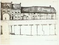 792 Opmeting Culemborgsepoort en Achterbonenburg. Geveltekening en plattegronden. , 1954