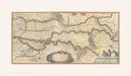 264 Een overzichtskaart van het rivierengebied van Gorichem tot Nijmegen. Dit deel van de kaart heeft rechtsboven een ...