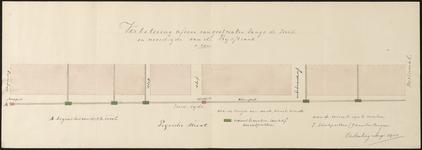 5805 Situatietekening van de verbetering van de riolering in de Prijssestraat, 1908