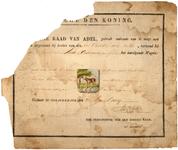 19 Diploma uitgereikt door de Hoge Raad van Adel van het wapen voor de heerlijkheid Lede en Oudewaard