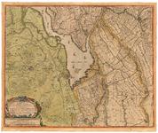 56 Een kaart van het gebied inhoudende de Alblasserwaard, een deel van de Tielerwaard, het land van Altena en een deel ...