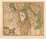 59 Een kaart van het gebied inhoudende een deel van Zuid-Holland met de Biesbosch en verder delen van Noord-Brabant, de ...