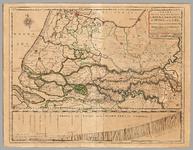 63 Een kaart van de loop van de rivieren de Rijn, de Maas, de Waal, de Merwede en de Lek, van Emmerik tot aan de ...