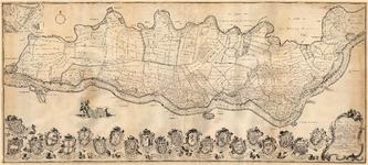 68 Een kaart van de Tielerwaard tussen Tiel en Gorinchem, aan de noordzijde begrensd door de Linge en aan de zuidzijde ...