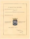 90 Diploma verleend door de Hoge Raad van Adel van het wapen van het Zuiveringschap Rivierenland