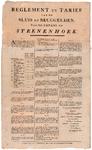 93 Het reglement en tarievenlijst van de sluis- en bruggelden voor het Kanaal van Steenenhoek voor alle vaartuigen, ...