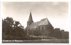 1158 Een prentbriefkaart van de oudste kerk van de Bommelerwaard, de Nederlands-hervormde kerk in Kerkwijk