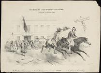 79 Spotprent; betreft de lening van 12 millioen gulden, gesloten op 5 maart 1831 door het Provisioneel bestuur met het ...