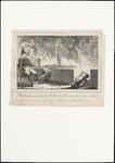 270 Spotprent op generaal Chassé, die op een stoel, achter een borstwering gezeten, rustig zijn pijp rookt, terwijl hij ...