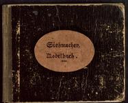 7666 Kaft bruinzwart met een linnen rug, op de voorkant kaft een ovaal plaatje met daarop Siebmacher Modelbuch 1604. ...