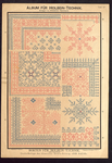 7694 Dit zijn drie borduurpatronen als gratis bijlage bij der Bazar: holbeintechnik in rood en blauw, [begin 20e eeuw]