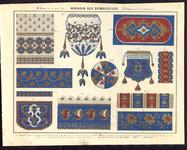 7719 Dit zijn vier bijlages met verschillende borduurpatronen en verschillende technieken, [midden 19e eeuw]
