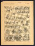 7953 Dit zijn zes platen behorend bij de zeven boekjes: Voortborduren aan Grootmoeders Handwerk door Maria van Hemert, ...