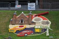 Mozaiëken Fruitcorso 2013. Mozaiek met als titel Den Haag bepaalt wat u betaalt , gemaakt door Wijkvereniging ...