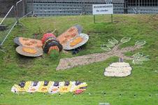 Mozaiëken Fruitcorso 2013. Mozaiek met als titel De vlinder , gemaakt door Jeugdbrandweer Tiel