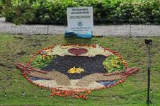 Mozaiëken Fruitcorso 2013. Mozaiek met als titel Verboden wereldvrede , gemaakt door Scouting Phoenix Tiel. Gesponsord ...