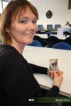 Portretfoto van Beatrijs van Dijk, inventarisator en archivaris bij het Regionaal Archief Rivierenland