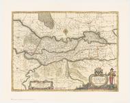 69 Een overzichtskaart van het Rivierengebied van Gorinchem tot Kleef en van Arnhem tot Grave. Het zuiden is boven bij ...