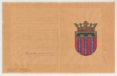 3289 Akte houdende de verklaring van de Hoge Raad van Adel betreffende de verlening van het wapen van de gemeente Haaften