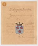 682 Diploma, akte houdende verklaring van de minister van binnenlandse zaken van het wapen van de gemeente Varik