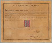 2500 Diploma verleend door de Hoge raad van Adel van het wapen van de gemeente Beesd (Beest)