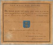 2750 Diploma verleend door de Hoge raad van Adel van het wapen van de gemeente Deil