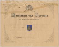 1778 Diploma verleend door de minister van justitie houdende verklaring dat het afgebeelde wapen gelijk is aan het ...