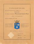 1373 Diploma verleend door de Hoge Raad van Adel van het wapen van het Polderdistrict Bommelerwaard boven de Meidijk