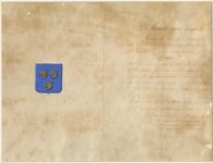 631 Akte waarin de minister van justitie verklaart dat de gemeente in 1816 is bevestigd in het bezit van het afgebeelde ...