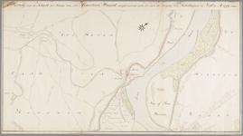 SAB002000168 Kaart der situatie van den Hemertsen-Waard zuijdwaards aan tot aan de dorpen van Hedikhuijzen en Well