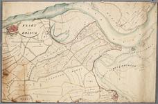 SAB002000170 Kaart van Rossum [en Hurwenen]. Ook een groot gedeelte van Zaltbommel, Bruchem en Driel (Maasdriel) zijn ...